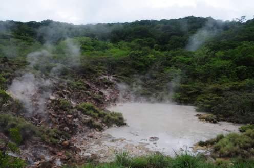 Kokend heet water in Rincon de la Vieja.